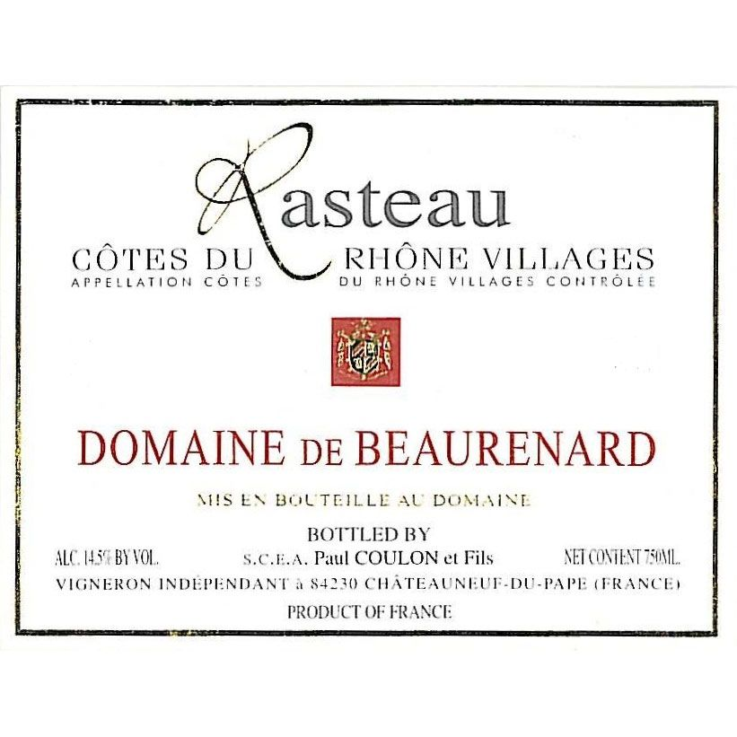 Domaine de Beaurenard Rasteau Cotes du Rhone Villages 2010 Front Label