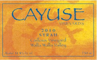 Cayuse Cailloux Syrah 2010 Front Label