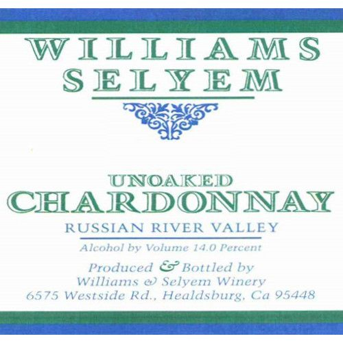 Williams Selyem Unoaked Chardonnay 2011 Front Label