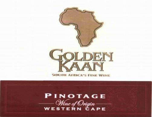 Golden Kaan Pinotage 2010 Front Label