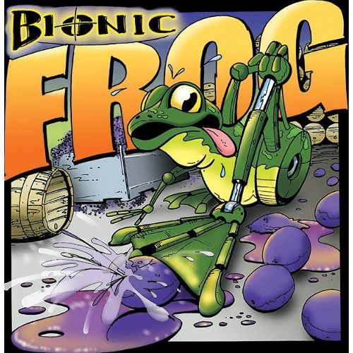 Cayuse Bionic Frog Syrah (slightly torn label) 2007 Front Label