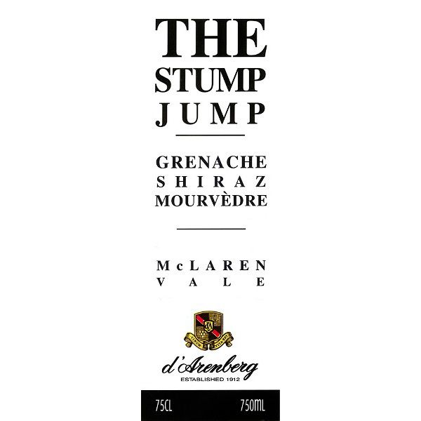 d'Arenberg The Stump Jump Red 2011 Front Label