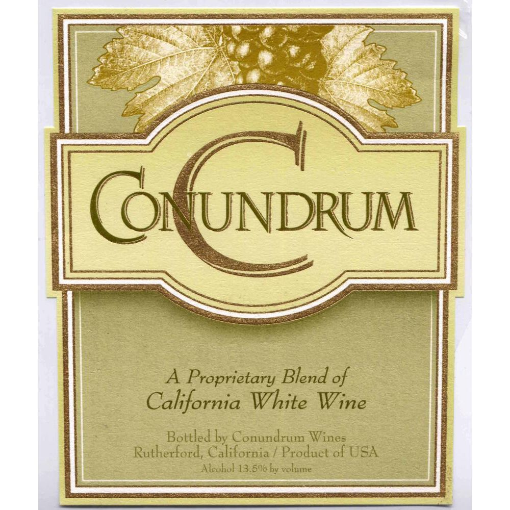 Conundrum White Blend 2012 Front Label