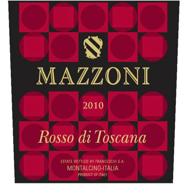 Mazzoni Toscana Rosso 2010 Front Label