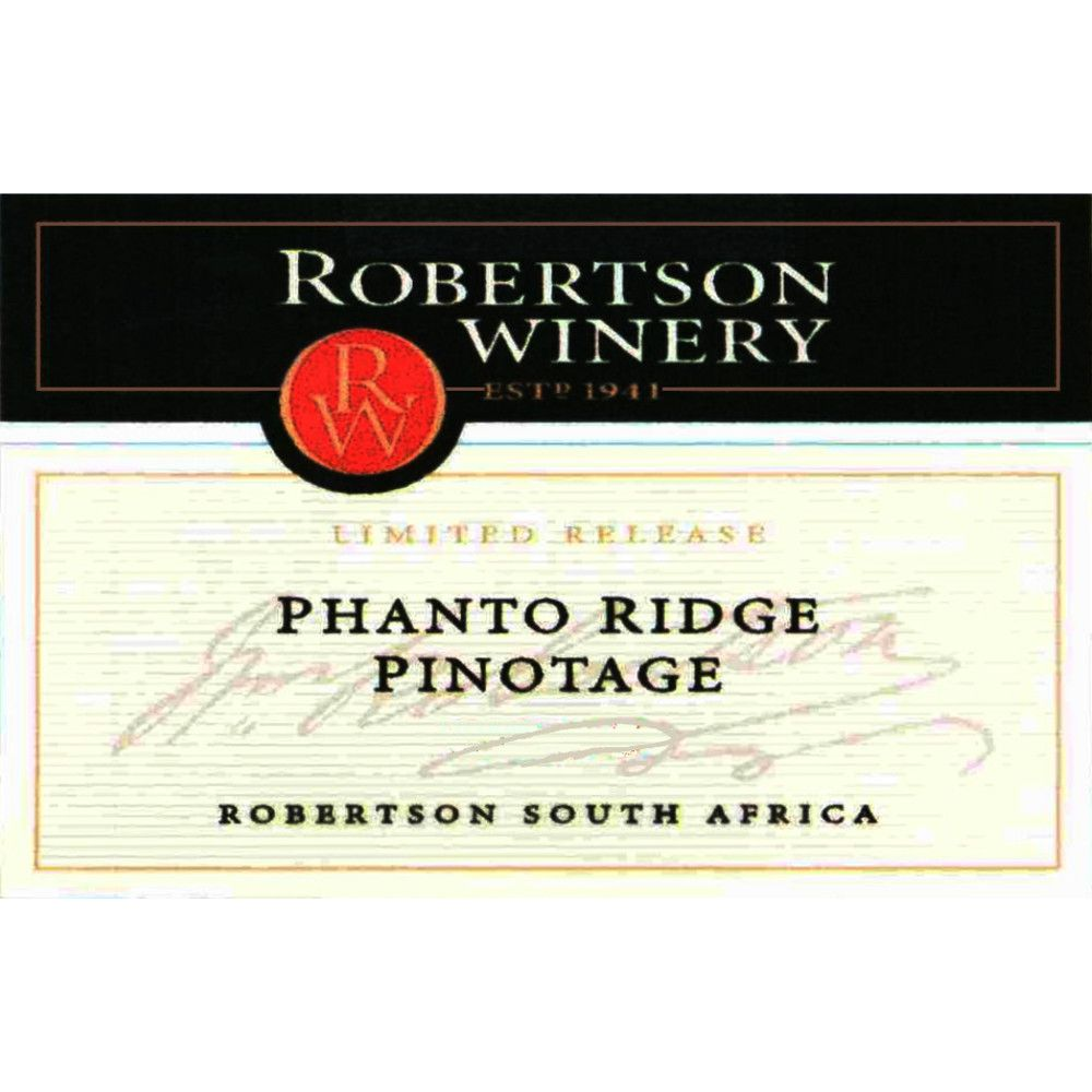 Robertson Limited Release Phanto Ridge Pinotage 2010 Front Label