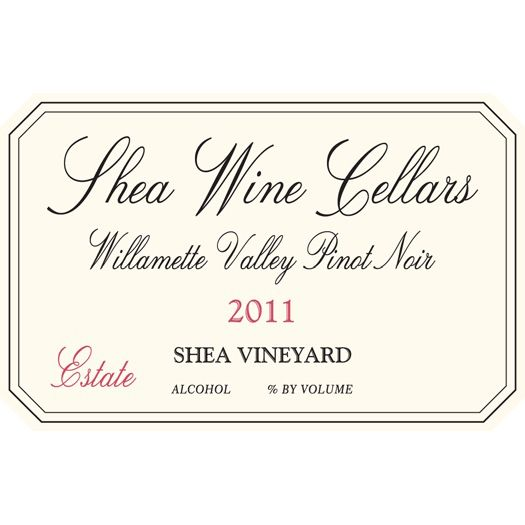 Shea Estate Pinot Noir Shea Vineyard 2011 Front Label