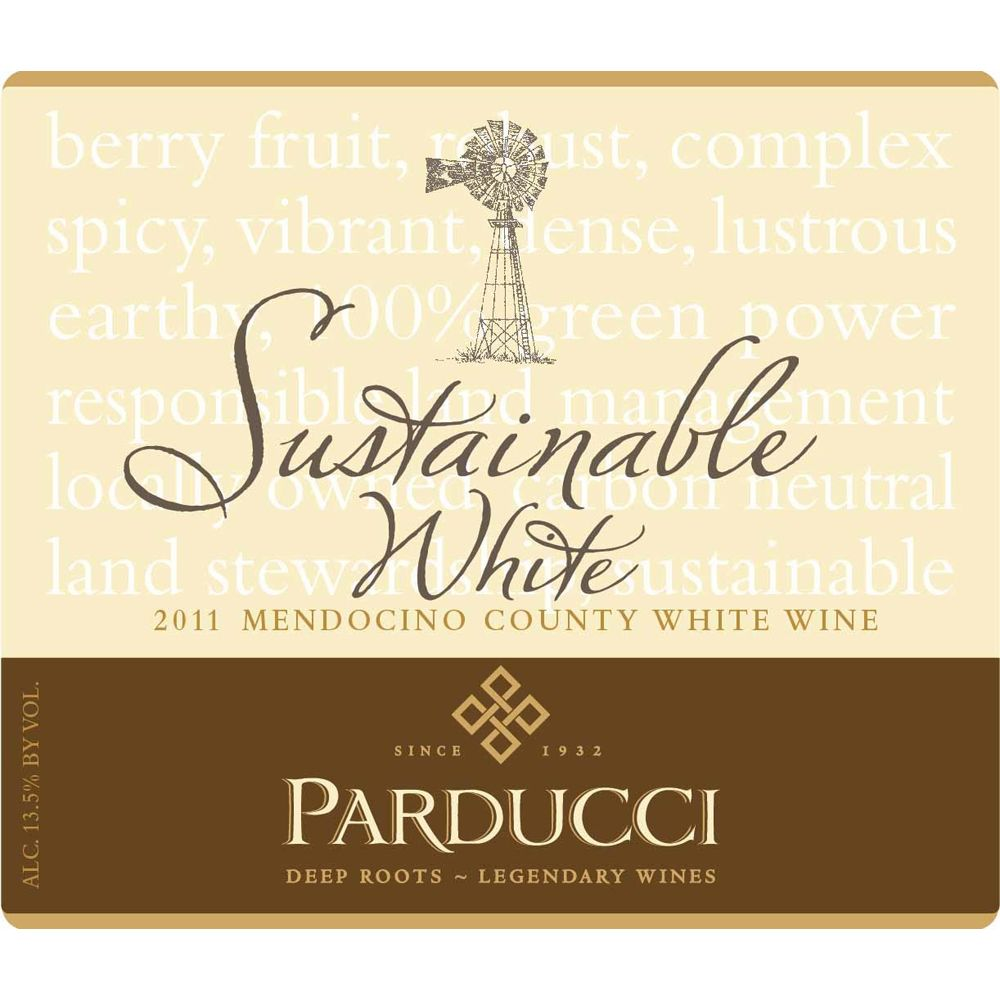 Parducci Sustainable White 2011 Front Label