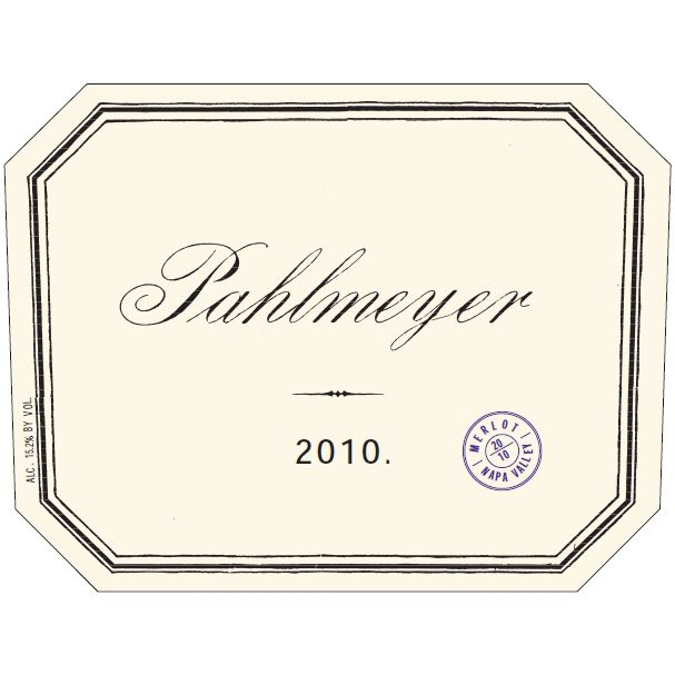 Pahlmeyer Merlot 2010 Front Label