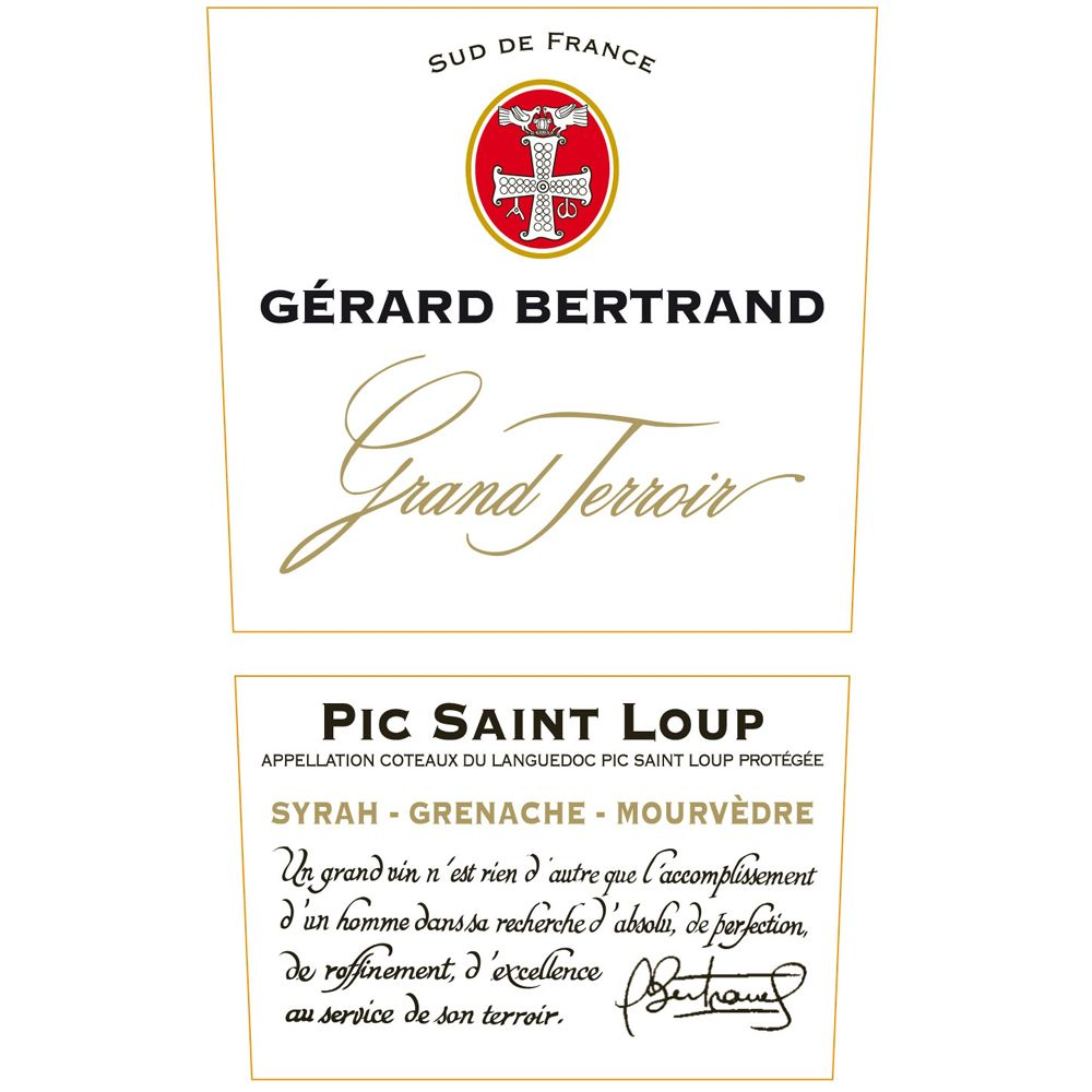 Gerard Bertrand Grand Terroir Pic Saint Loup 2010 Front Label