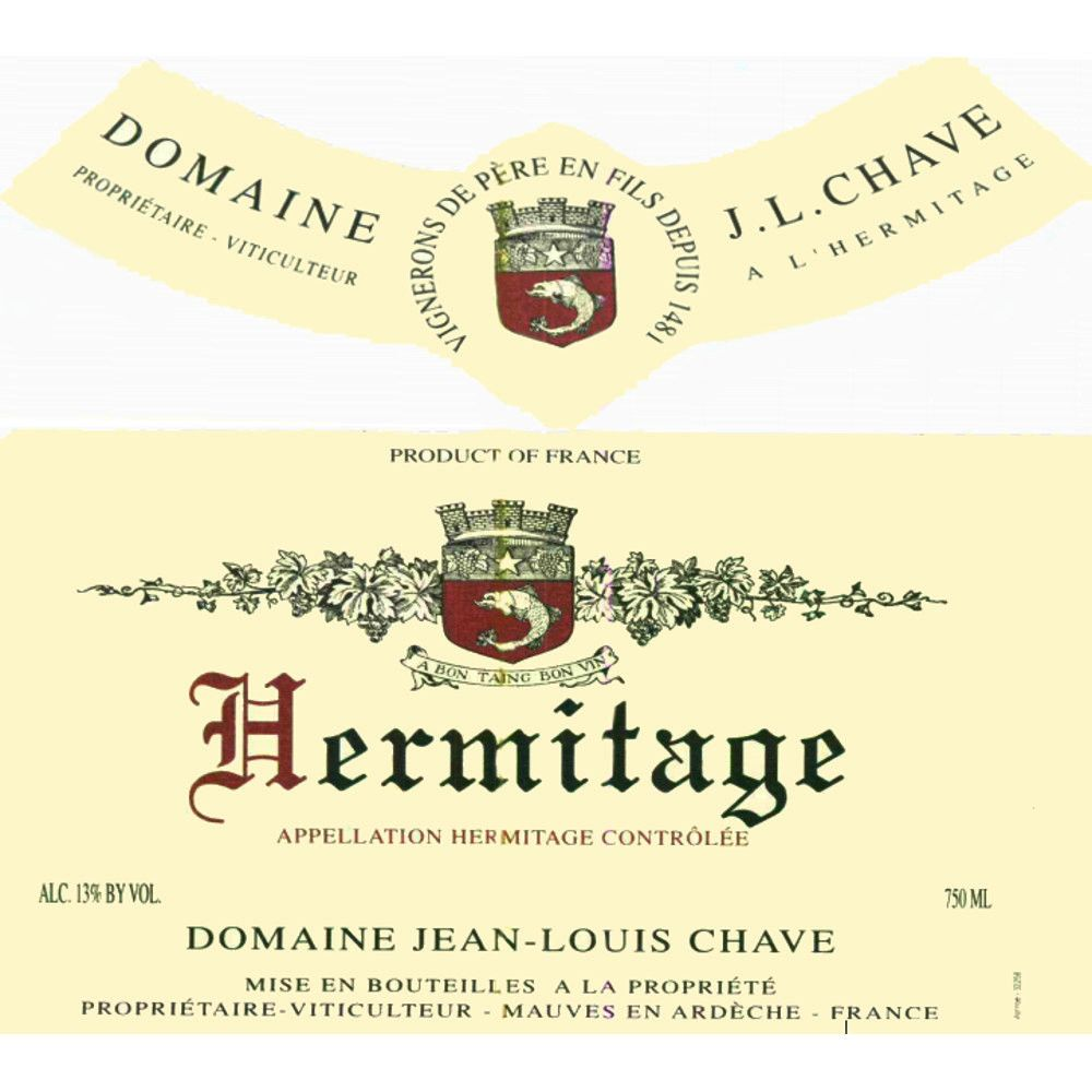 Jean-Louis Chave Hermitage Blanc 2009 Front Label