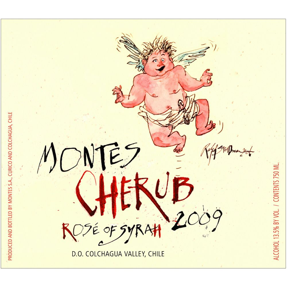 Montes Cherub Rose of Syrah 2009 Front Label