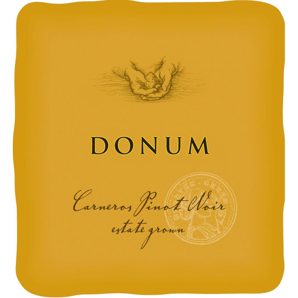 The Donum Estate Carneros Estate Grown Pinot Noir 2010 Front Label
