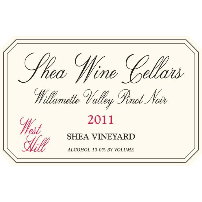 Shea West Hill Pinot Noir 2011 Front Label