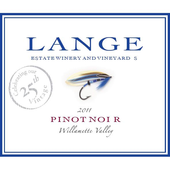 Lange Winery Willamette Valley Pinot Noir 2011 Front Label