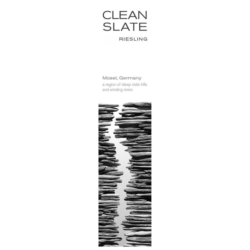 Clean Slate Riesling 2012 Front Label