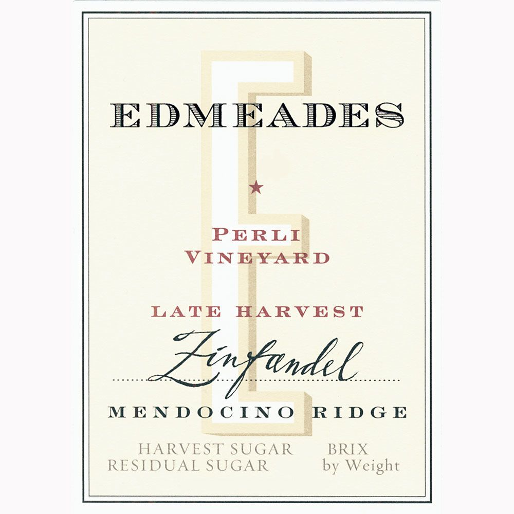 Edmeades Perli Late Harvest Zinfandel (375ML half-bottle) 2010 Front Label