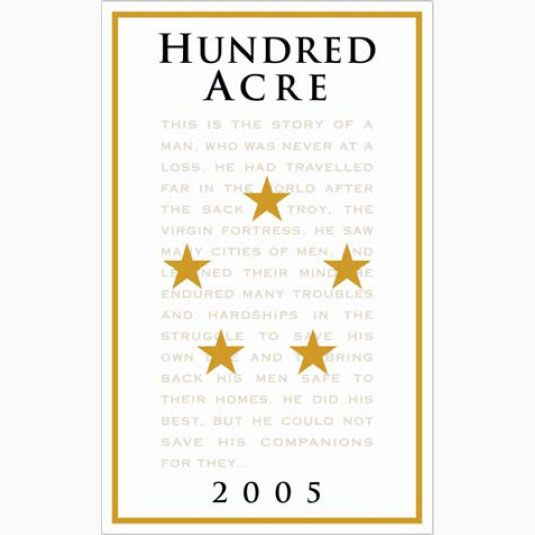Hundred Acre Kayli Morgan Cabernet Sauvignon 2005 Front Label