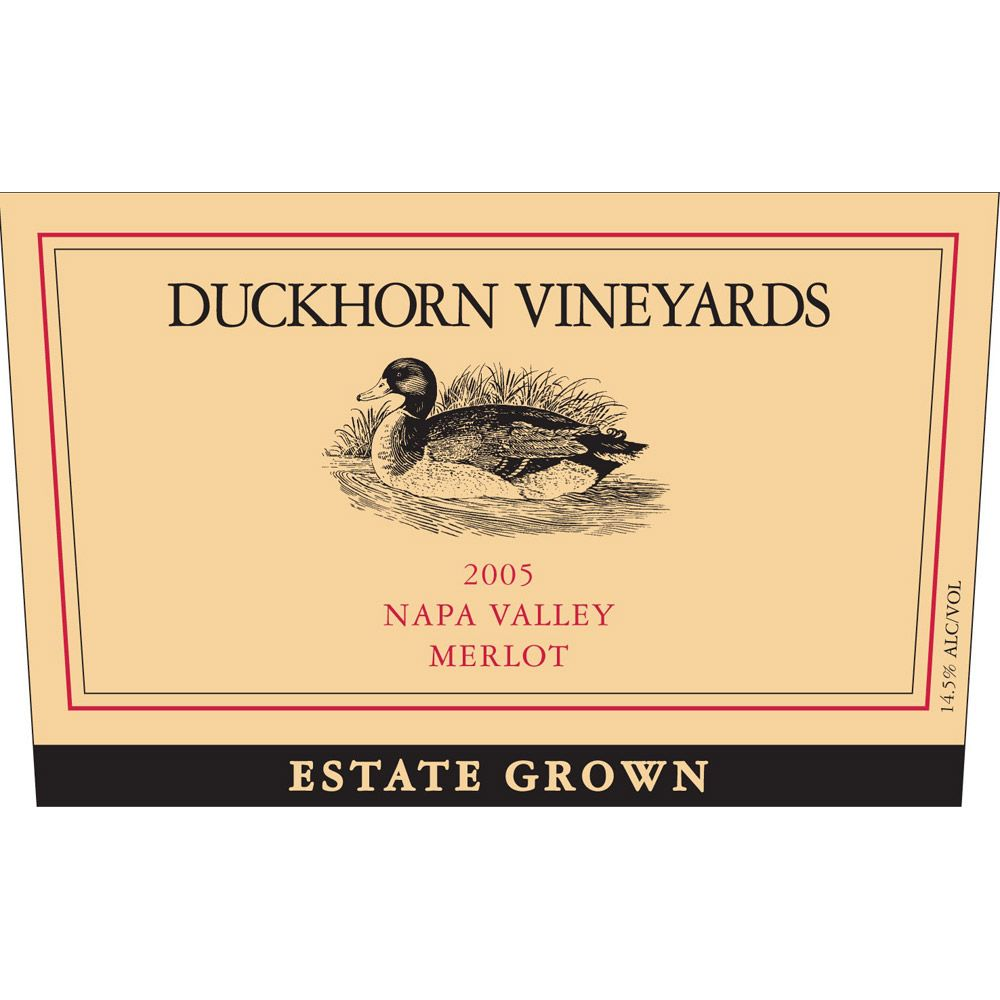 Duckhorn Estate Grown Merlot (1.5 Liter Magnum) 2005 Front Label