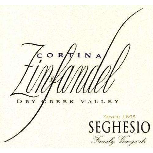 Seghesio Cortina Zinfandel 2010 Front Label