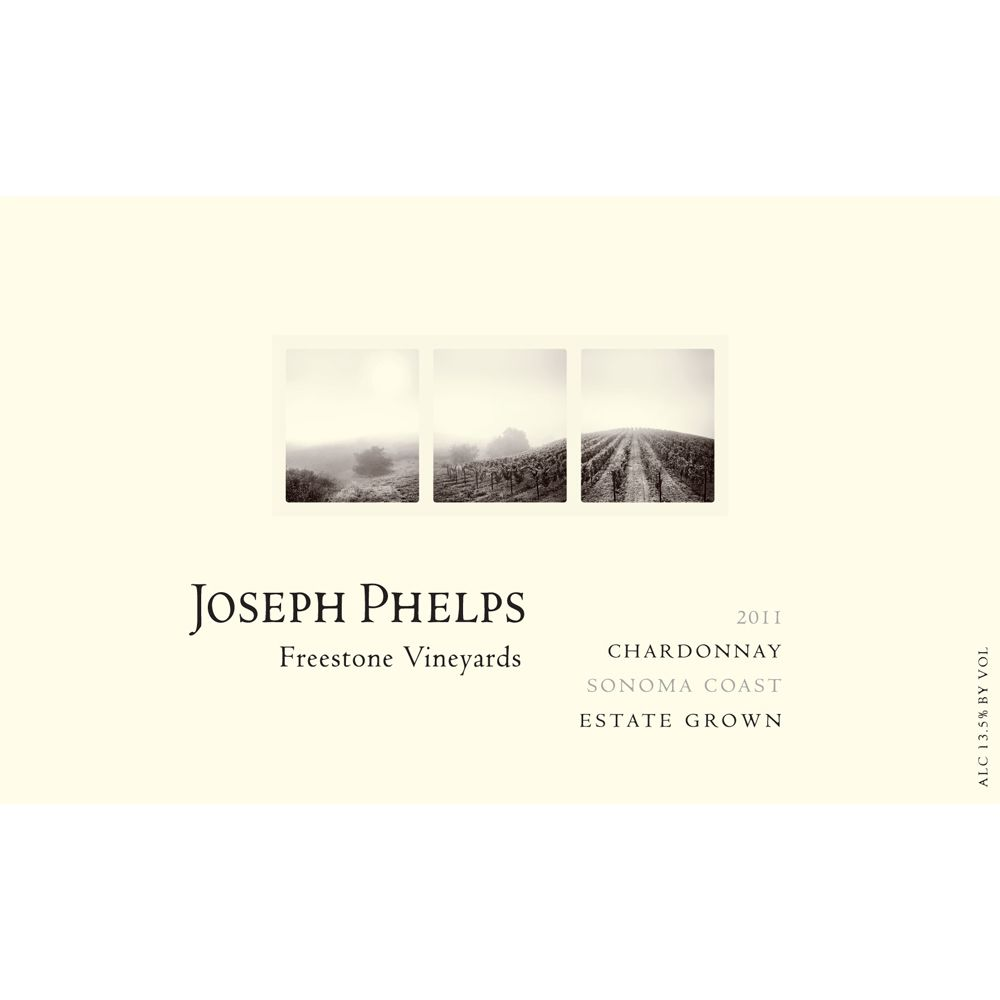 Joseph Phelps Freestone Vineyards Sonoma Coast Chardonnay 2011 Front Label