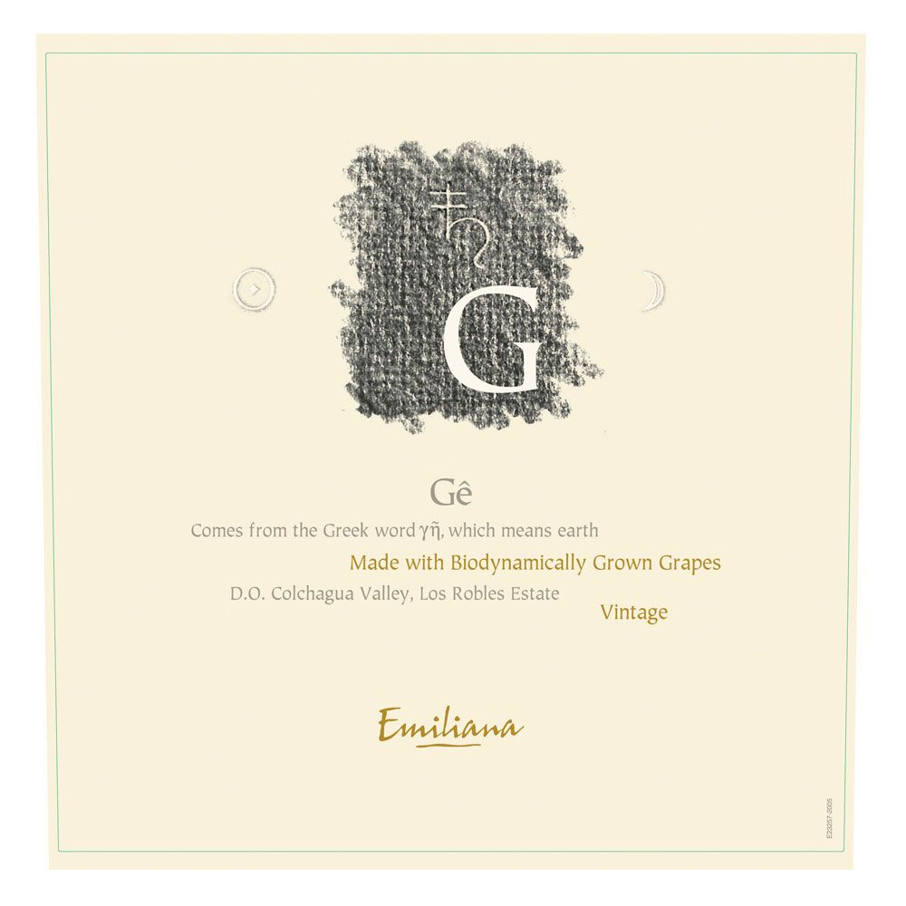 Emiliana Ge (Certified Biodynamic) 2009 Front Label