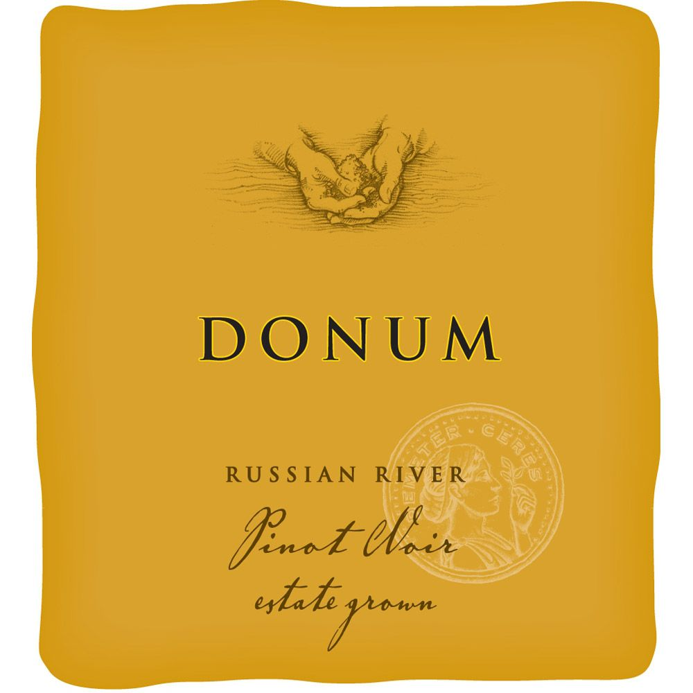 The Donum Estate Russian River Valley Pinot Noir 2010 Front Label