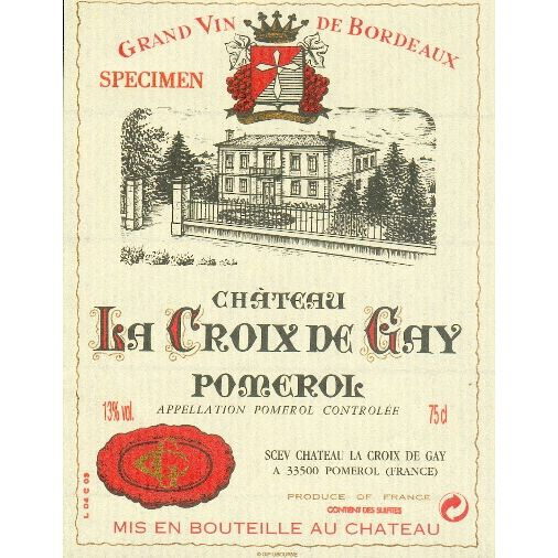 Chateau La Croix De Gay  2004 Front Label