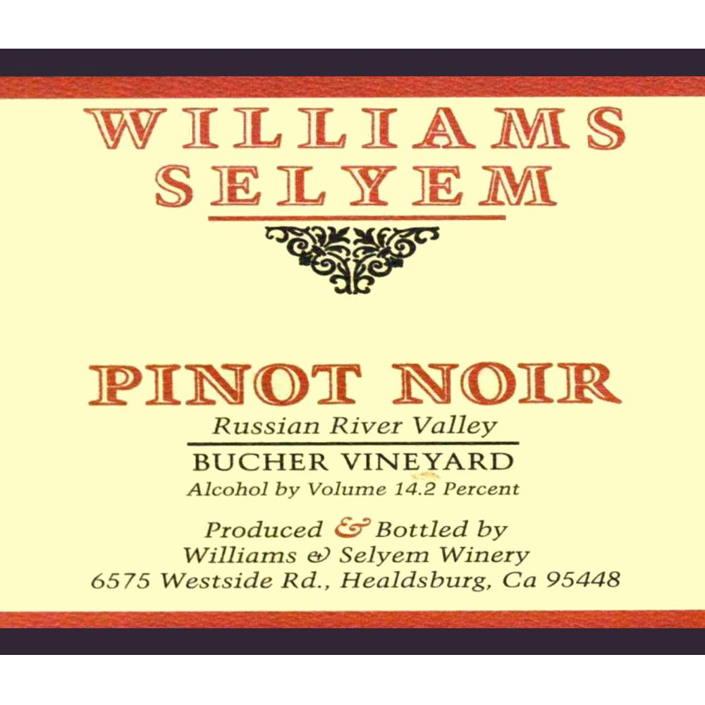 Williams Selyem Bucher Vineyard Pinot Noir 2007 Front Label