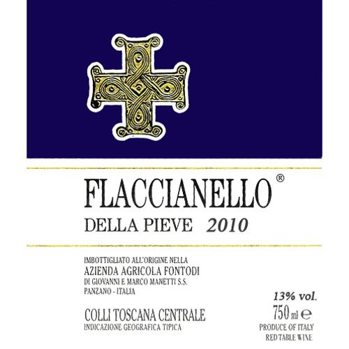 Fontodi Flaccianello della Pieve (6 Liter Bottle - signs of past seepage) 2010 Front Label
