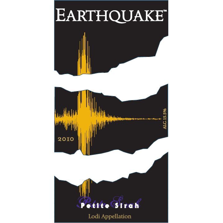 Michael David Winery Earthquake Petite Sirah 2010 Front Label