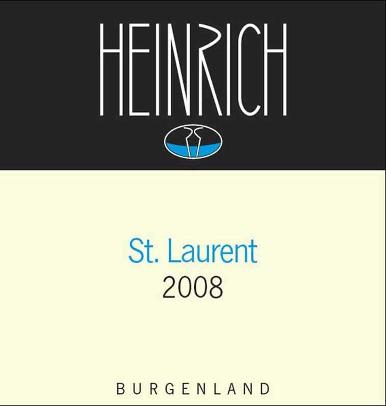 Heinrich St. Laurent 2008 Front Label