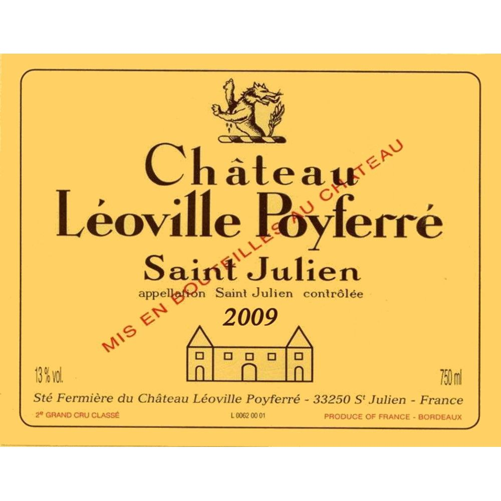 Chateau Leoville Poyferre (6 Liter Bottle) 2009 Front Label