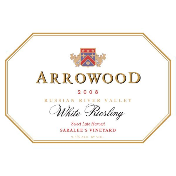 Arrowood Saralee's Select Late Harvest Riesling (375ML) 2008 Front Label