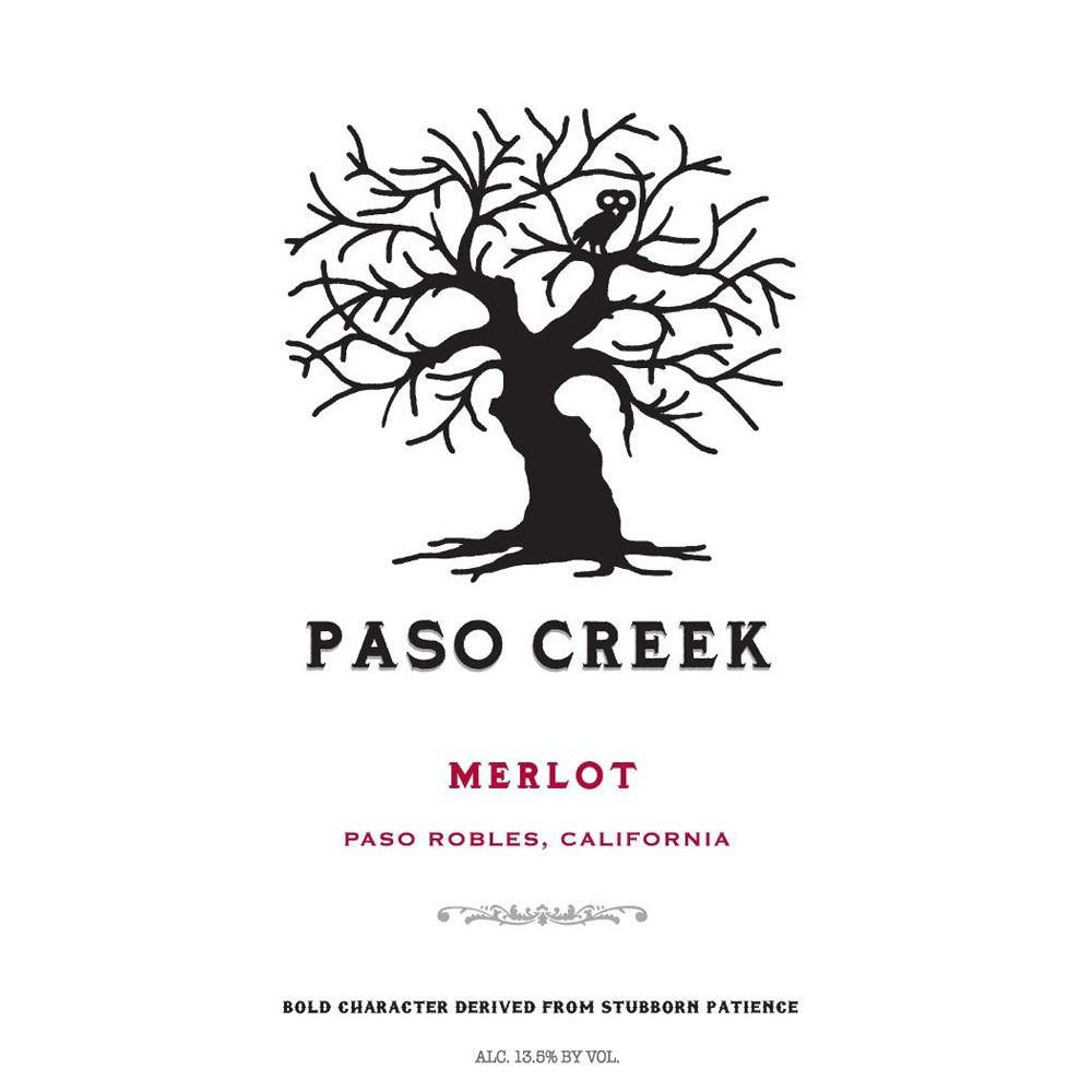 Paso Creek Merlot 2011 Front Label
