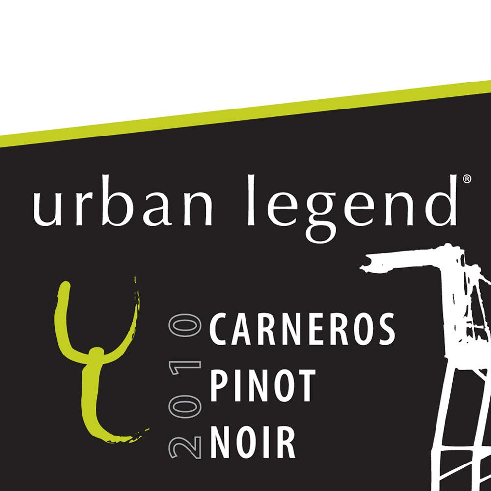 Urban Legend Cellars Carneros Pinot Noir 2010 Front Label