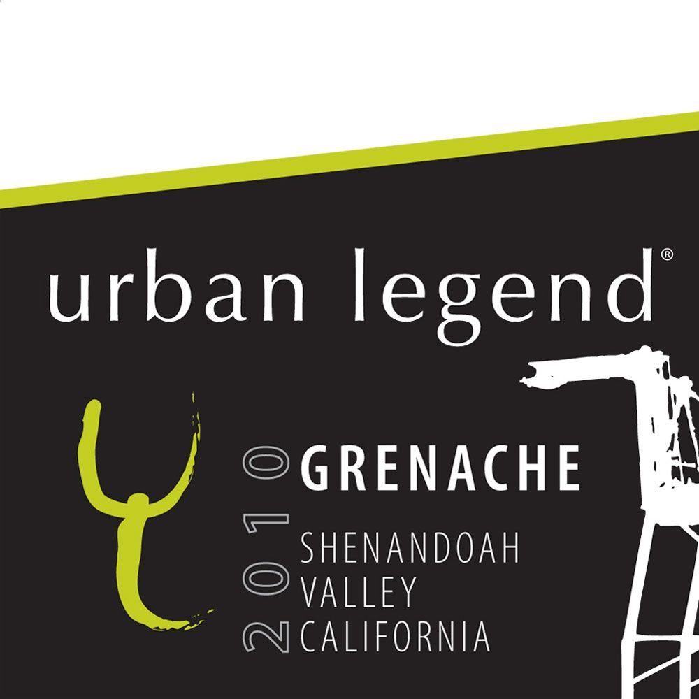 Urban Legend Cellars Grenache 2010 Front Label