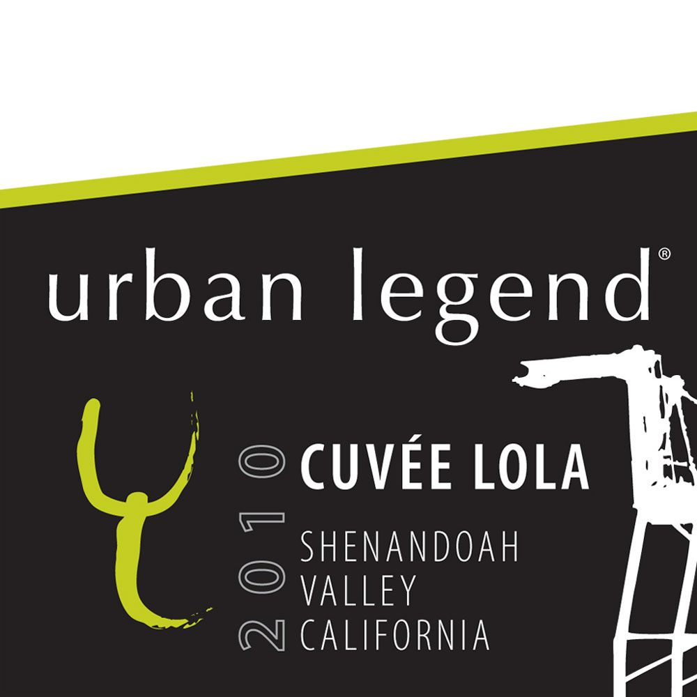 Urban Legend Cellars Cuvee Lola 2010 Front Label