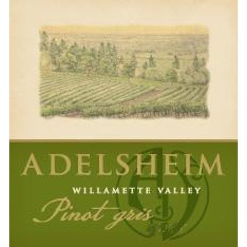 Adelsheim Pinot Gris 2012 Front Label