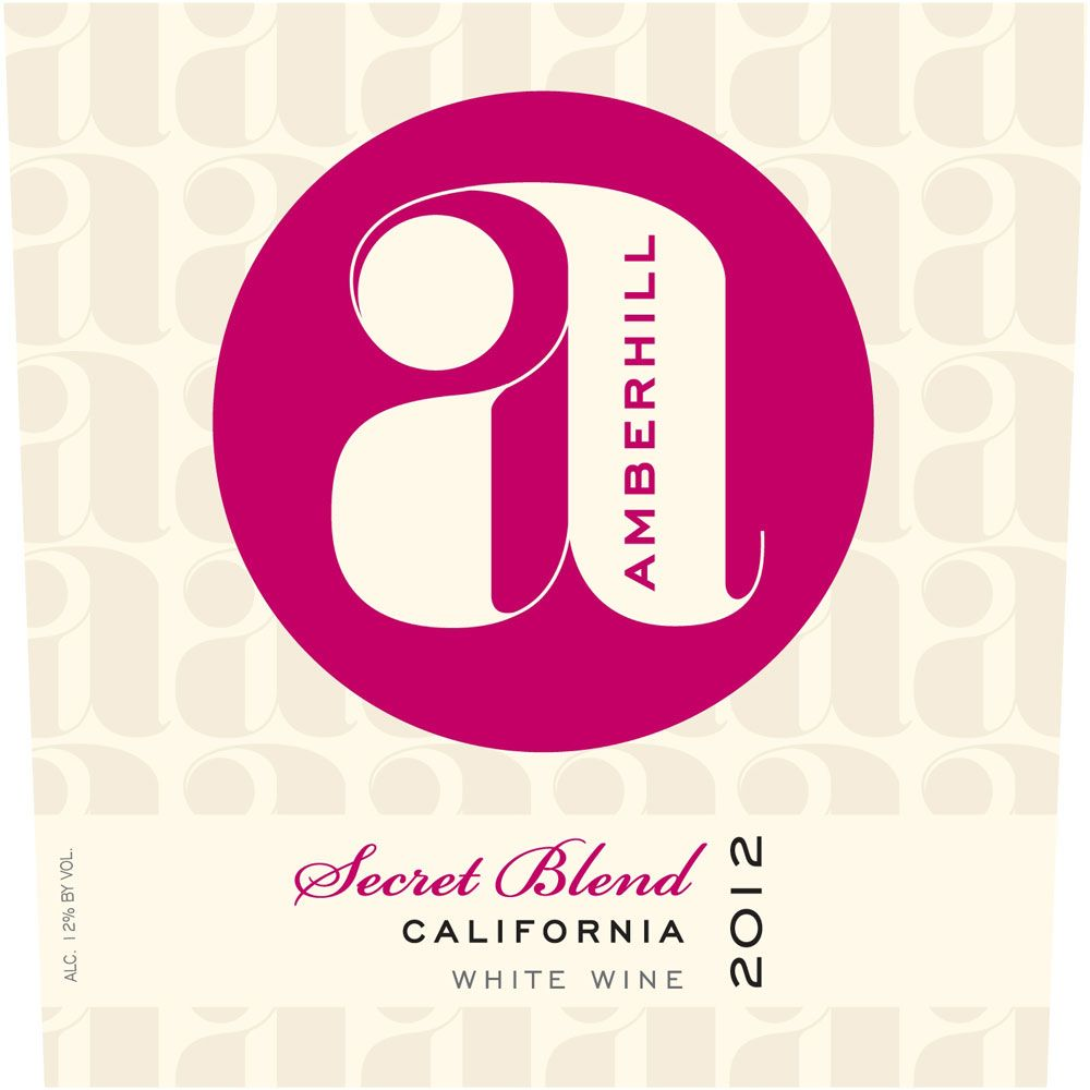 Amberhill Secret White Blend 2012 Front Label