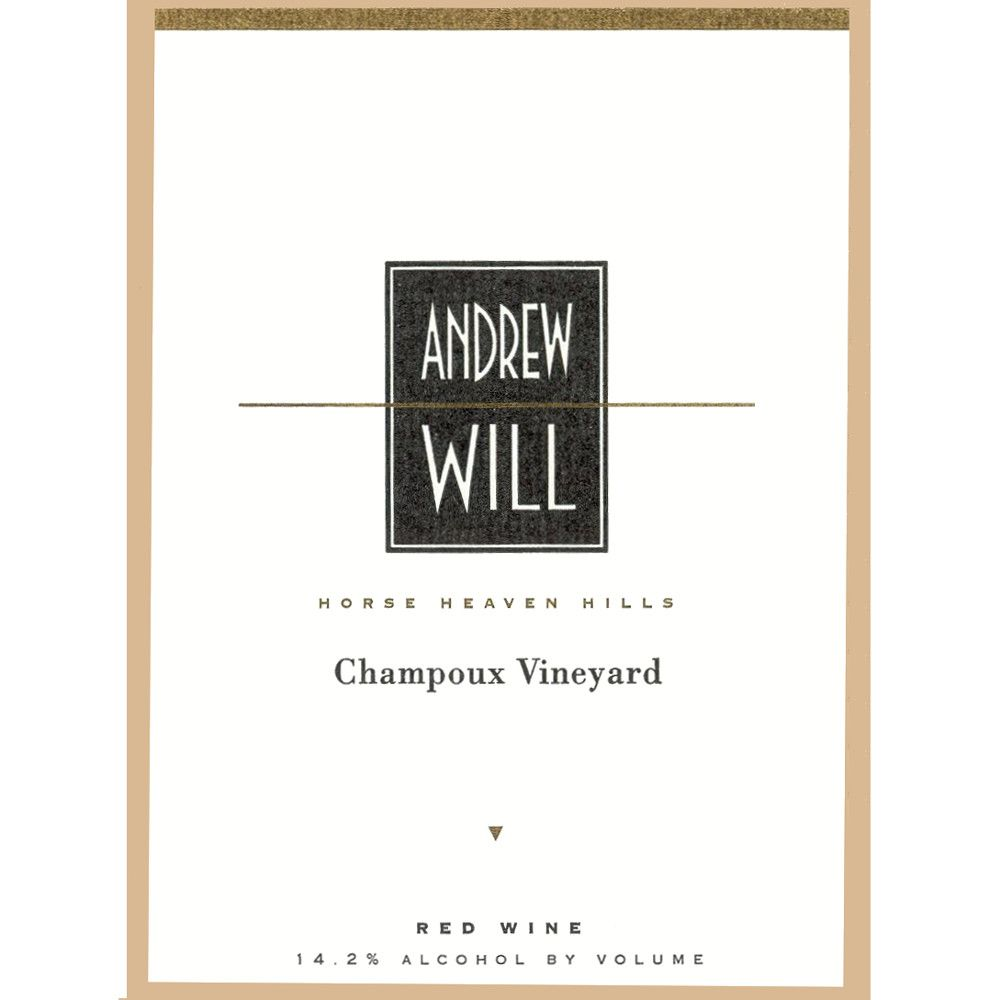 Andrew Will Winery Champoux Vineyard Horse Heaven Hills 2010 Front Label