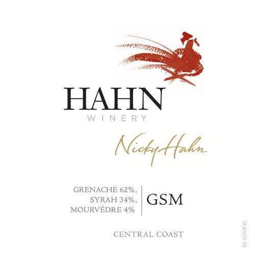 Hahn Winery GSM 2012 Front Label