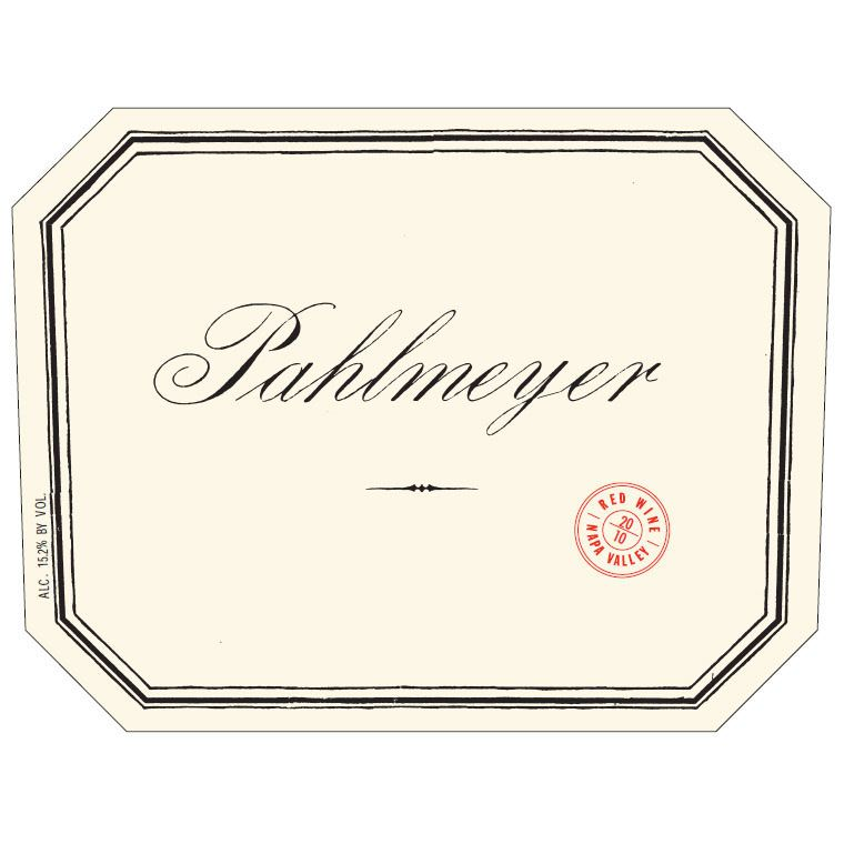 Pahlmeyer Merlot 1996 Front Label