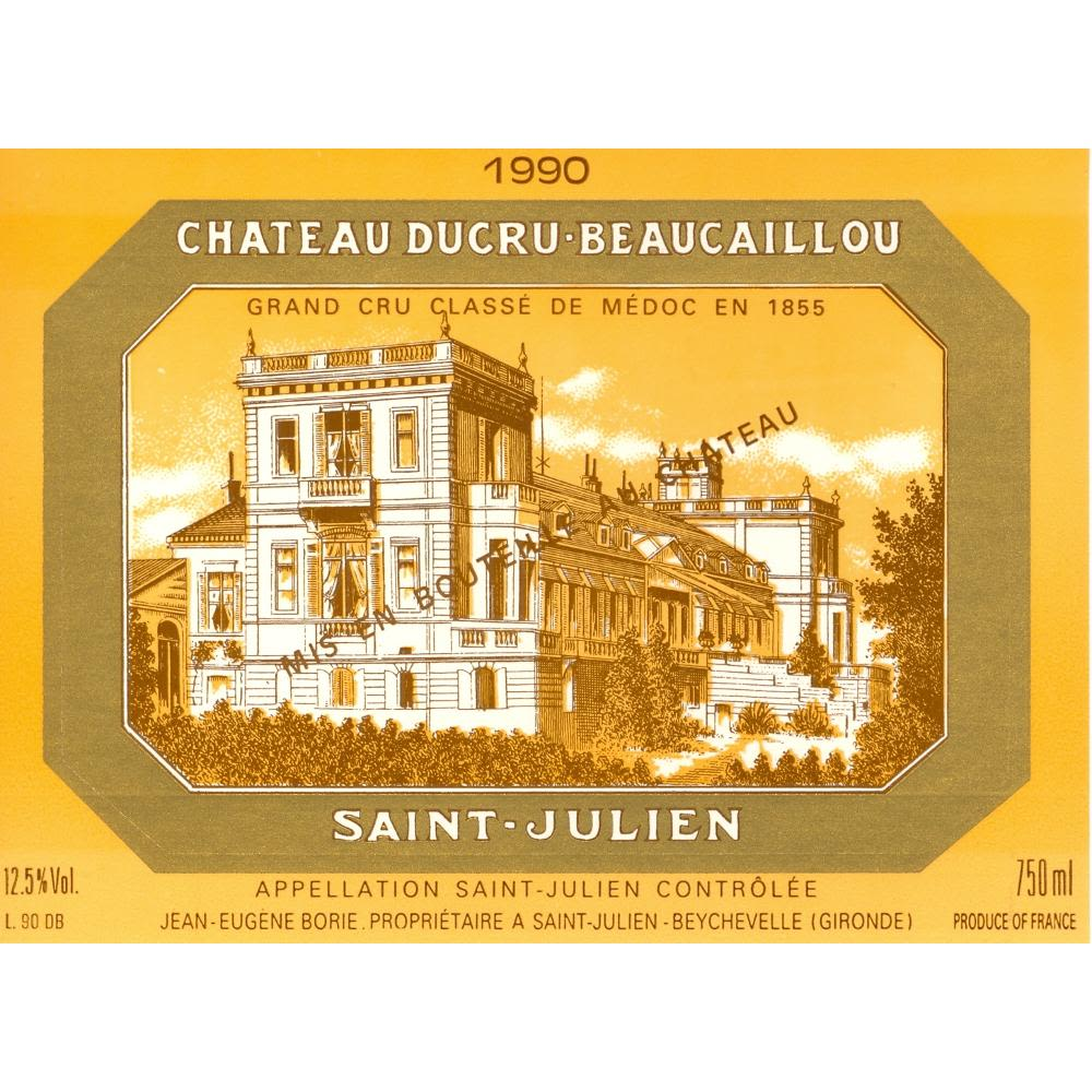 Chateau Ducru-Beaucaillou  1990 Front Label
