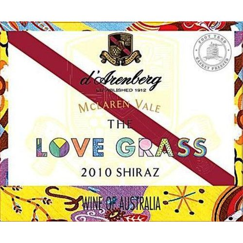 d'Arenberg The Love Grass Shiraz 2010 Front Label