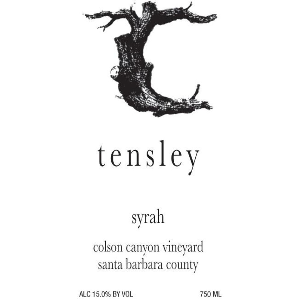 Tensley Colson Canyon Vineyard Syrah 2011 Front Label