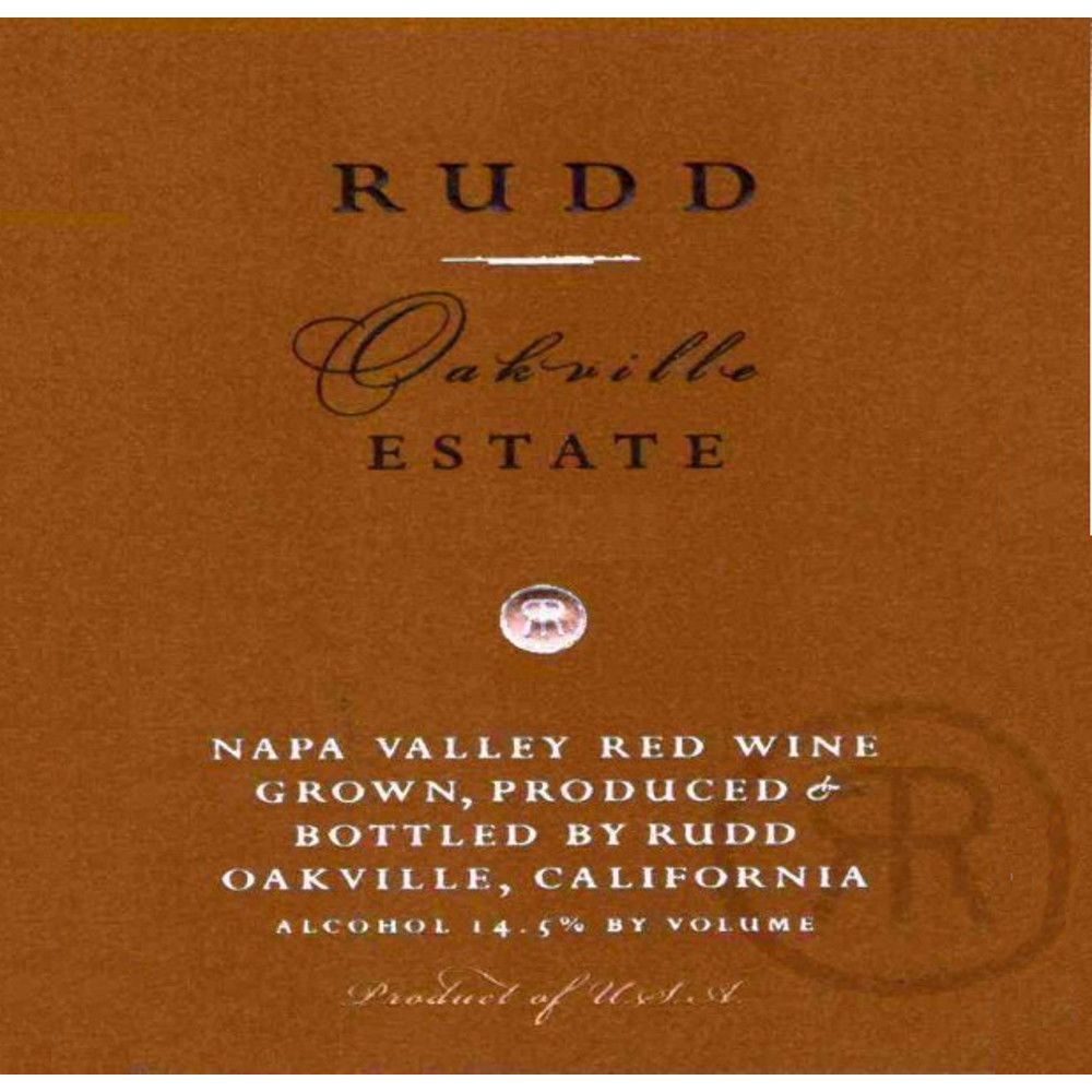 Rudd Oakville Estate Proprietary Red 2008 Front Label