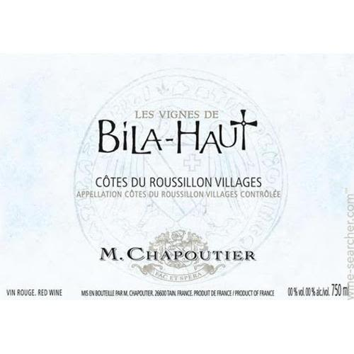 Bila-Haut by Michel Chapoutier Cotes du Roussillon Villages 2011 Front Label