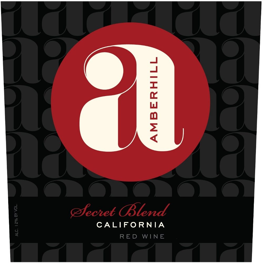 Amberhill Secret Red Blend 2012 Front Label