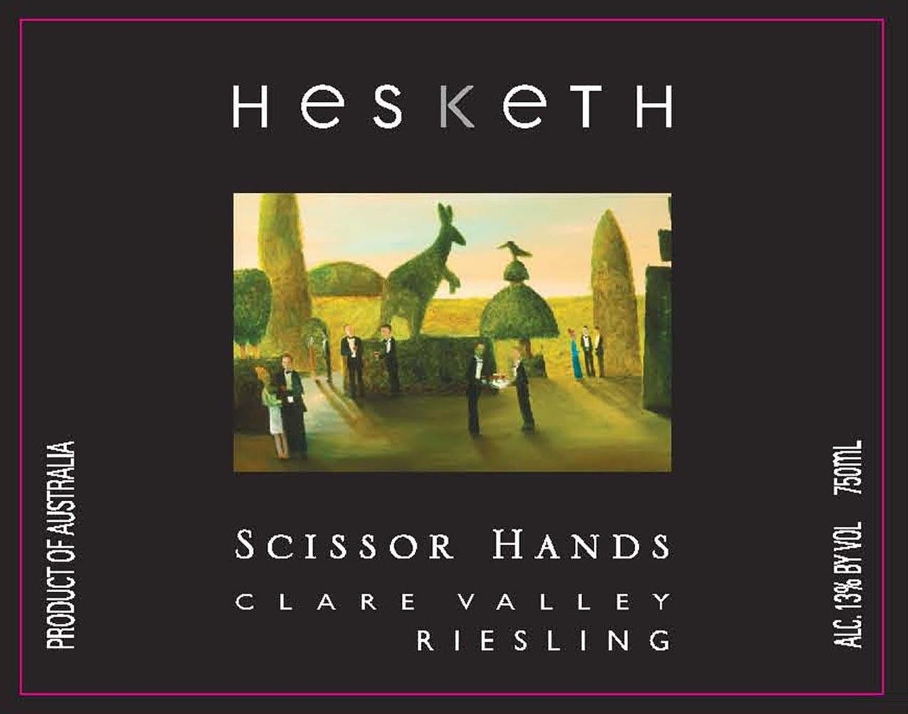 Hesketh Scissor Hands Riesling 2014 Front Label