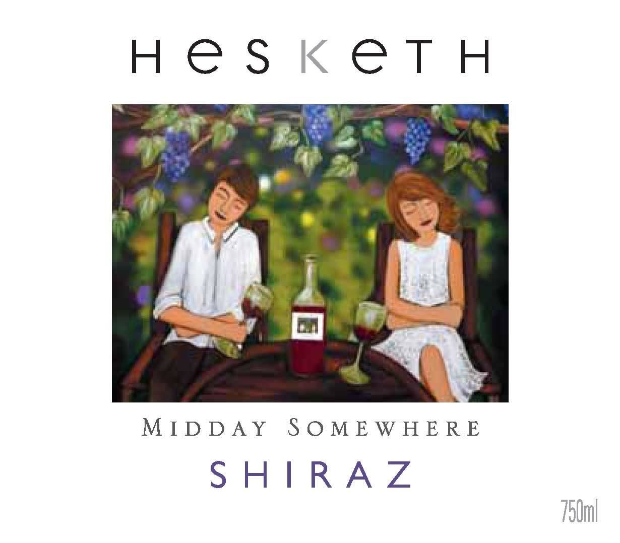 Hesketh Midday Somewhere Shiraz 2014 Front Label